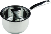 Zanussi Positano Stainless Steel 16cm Saucepan with Glass Lid, Silver