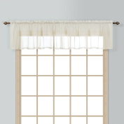 American Curtain and Home Semi-Sheer Window Treatment Valance, 140cm by 41cm , Natural