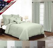 Veratex 100% Linen Made in the USA Modern & Elegant Grommet Window Valance, Brown
