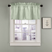 Veratex The Madison Window Collection 100% Linen Made in the USA Modern & Elegant Tailored Window Valance, Sage