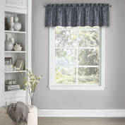 Eclipse 15654052018MDN Eclipse Mallory Blackout Floral Valance, 130cm x 46cm , Midnight