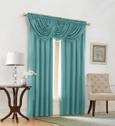 Regal Home Collections Emerald Crepe Waterfall Window VALANCE 110cm x 90cm , Aqua