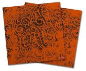 WraptorSkinz Vinyl Craft Cutter Designer 12x12 Sheets Folder Doodles Burnt Orange - 2 Pack