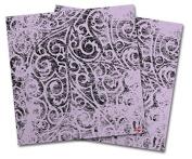 WraptorSkinz Vinyl Craft Cutter Designer 12x12 Sheets Folder Doodles Lavender - 2 Pack