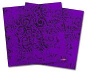 WraptorSkinz Vinyl Craft Cutter Designer 12x12 Sheets Folder Doodles Purple - 2 Pack