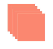 Coral Glossy 5-pack of Adhesive Vinyl Sheets - 30cm x 30cm Outdoor/permanent - Vinylxsticker