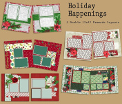 Holiday Happenings Scrapbook Kit - 5 Double Page Layouts