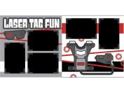 """Laser Tag Fun"" ASSEMBLED Scrapbook Page"