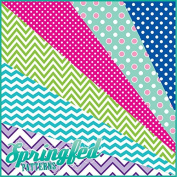 GRAB BAG of Mixed POLKA DOTS and CHEVRON PATTERN Craft Vinyl! 8 6x6 Pieces Perfect for Vinyl Cutters