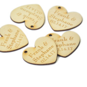 Personalised Wood Heart Wedding Table Centrepiece Wedding Decor 3cm 50pcs