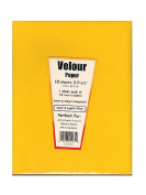 Hygloss 1185 Assorted Colours 10 Sheets Velour Paper