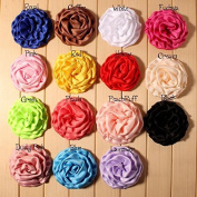 Mixed Colours Flat-bottomed Beautiful Bohemian Style DIY Handmade Decorative Chiffon Flowers for Hair Clips, Scrapbooking and More Decoration,Wedding Flowers(10Pcs) Pearl Bowknot Flowers