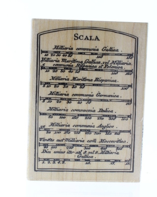 Hampton Art Scala Words Writing Romantic Page Wooden Rubber Stamp