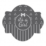 It's a Girl Prettier Plaques Julia Usher Cookie Stencil 5 pc set