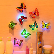 WILLTOO 10 Pcs Wall Stickers Butterfly LED Lights Wall Stickers 3D House Decoration
