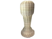 Mannequin Head Wicker Rattan Head Wig Stand Handcraft Antique Display Handmade Height 41cm