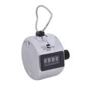 HDE Handheld 4 Digit Number Counter Mechanical Tally Lap Tracker Manual Clicker