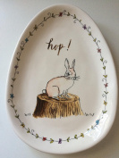Rae Dunn EASTER HOP Small Plate / Server By Magenta