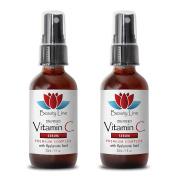 Wrinkle vitamins - VITAMIN C SERUM Premium Complex With Hyaluronic Acid - Serum face - 2 Bottles