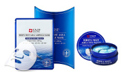 [SNP] Birds Nest Aqua Ampoule Mask 10sheets + Aqua Eye Patch 60ea SET