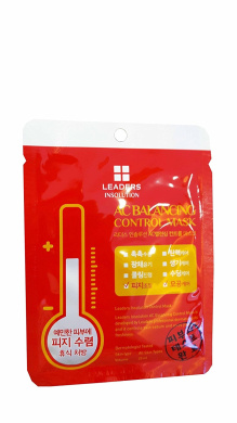 4 Mask Sheets of Leaders Insolution AC Balancing Control Mask. Skin Effects: Sebum Control, Soothing, Freshness, Moisturising. Dermatologist tested. Skin type: All skin types. (25 ml/ sheet.)