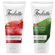 Avocado Hand Cream and Pomegranate Foot Cream set by Frulatte for dry skin