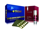 TR Zell P-Centa Forte Sheep Placenta Extract Supplement & SwissZell Transdermal Celluar Therapy Serum Combo Set