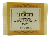 Taashi Handmade Natural Almond Coconut Bathing Bar Soap Parabens Free -100ml