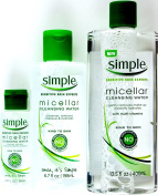 Simple Micellar Cleansing Water 3 bottles, 400ml, 200ml and 60ml