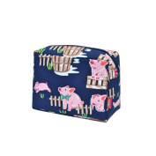 Happy Pig Town Print NGIL Large Cosmetic travel Pouch