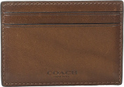 COACH Men's Sport Calf Money Clip Card Case Dark Saddle Cosmetic Bag