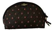 Provence Small Cosmetic Bag, Black Provence Fabric, 100% Cotton - Made in France
