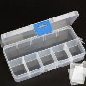 Ewandastore 10 Clear Adjustable Flase Eyelash Storage Box Makeup Cosmetic Case Organiser