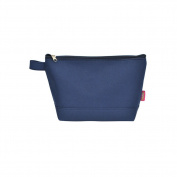 Navy Solid Colour Canvas NGIL Large Cosmetic Bag Pouch
