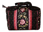 Provence Cosmetic Bag, Black Provence Fabric, 100% Cotton - Made in France