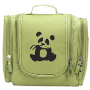 Travel Toiletry Bags Panda Is My Sprit Animal Washable Bathroom Storage Hanging Cosmetic/Grooming Bag For Household Business Vacation, Multi Compartments, Waterproof Lining