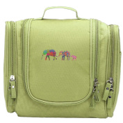 Travel Toiletry Bags 3 Colourful Elephants Family Washable Bathroom Storage Hanging Cosmetic/Grooming Bag For Household Business Vacation, Multi Compartments, Waterproof Lining