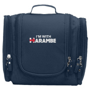 Travel Toiletry Bags I'm With Harambe Washable Bathroom Storage Hanging Cosmetic/Grooming Bag For Household Business Vacation, Multi Compartments, Waterproof Lining