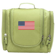 Travel Toiletry Bags Flag Of The United States Of America Washable Bathroom Storage Hanging Cosmetic/Grooming Bag For Household Business Vacation, Multi Compartments, Waterproof Lining