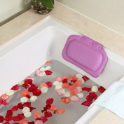 Spa Bath Pillow AnGeer PVC Foam with Suction Cups Washable and Waterproof Pillows Fits All Bathtub