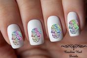 Sugar Skull Design #1 Nail Art Decals