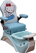 Kids Pedicure Chair KITTY Blue Pedicure Spa Nail Salon Furniture