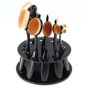 Ranphy 10pcs Oval Makeup Brush Set with Organiser, Toothbrush Set for Powders, Concealer, Contours, Foundation, Eyeshadow and Eyeliner