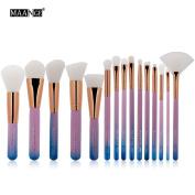 DaySeventh Cosmetic Makeup Brush Eye Shadow Brushes Set Kit 15pcs