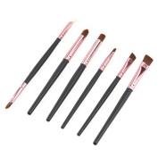 Sunward 6PCS Professional Face Eye Shadow Eyeliner Foundation Cosmetic Makeup Brush Lip Makeup Brush Eyeshadow Brush