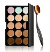 Cosmetic MakeupSunward Blusher Toothbrush Curve Foundation Brush+15 Colours Concealer