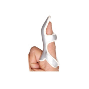 Frog Finger Splint | Foam Lined, Malleable Metallic Splint to Align and Stabilise the Fractured or Injured Distal Finger- Small