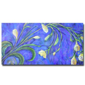 Trademark Fine Art Yellow Tulips by Wendra Canvas Wall Art, 60cm x 120cm