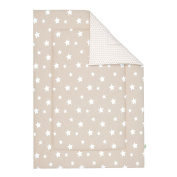 Odenwälder Reversible Mat with White Stars Iced Coffee, 100 x 135 cm