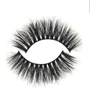 Horse Hair False Eyelashes 3D 100% Hand-made for Makeup a Pack of 2pcs